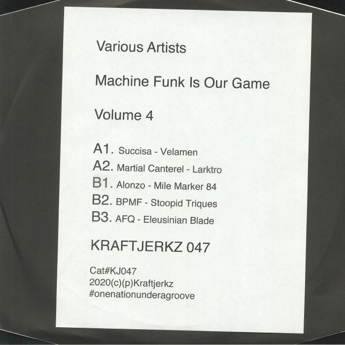 Machine Funk Is Our Game Volume 4.